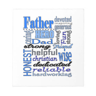 Father Words Day Dad Daddy Papa Pawpaw Note Pad