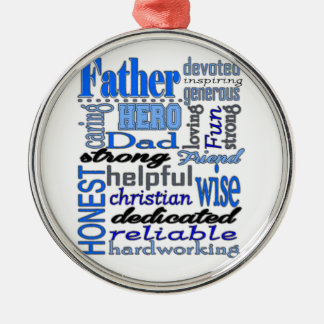 Father Words Day Dad Daddy Papa Pawpaw Ornaments