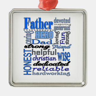 Father Words Day Dad Daddy Papa Pawpaw Christmas Tree Ornament