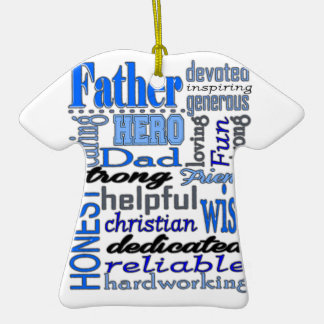 Father Words Day Dad Daddy Papa Pawpaw Christmas Tree Ornaments