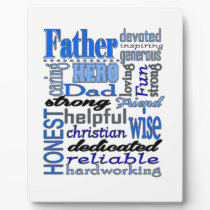 Father Words Day Dad Daddy Papa Pawpaw Plaque