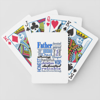 Father Words Day Dad Daddy Papa Pawpaw Bicycle Poker Deck