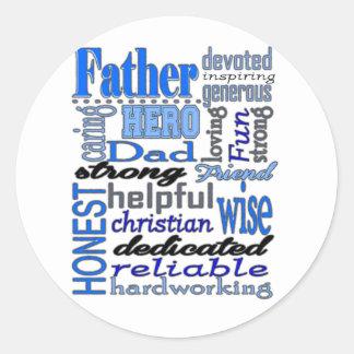 Father Words Day Dad Daddy Papa Pawpaw Sticker