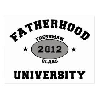 Fatherhood 2012 Freshman Postcard