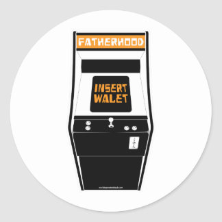 Fatherhood Game: Insert Wallet Classic Round Sticker