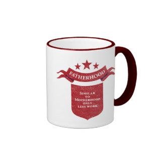 Fatherhood. Ringer Coffee Mug