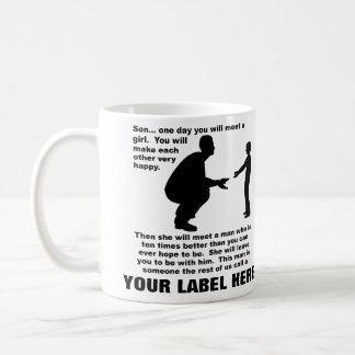 Fatherly Advice Customizable Funny Mug