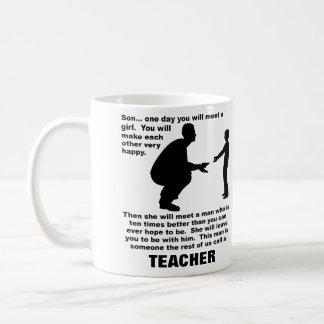 Fatherly Advice Teacher Funny Mug