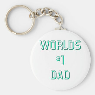 Fathers and Dads Basic Round Button Keychain
