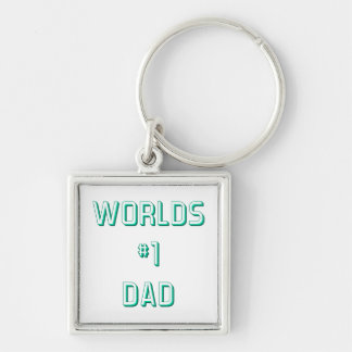Fathers and Dads Silver-Colored Square Keychain