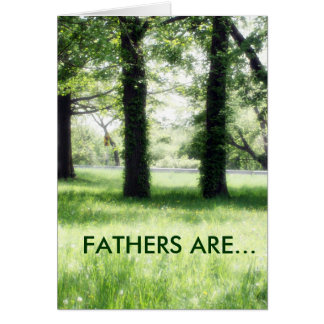 FATHERS ARE.. GREETING CARD