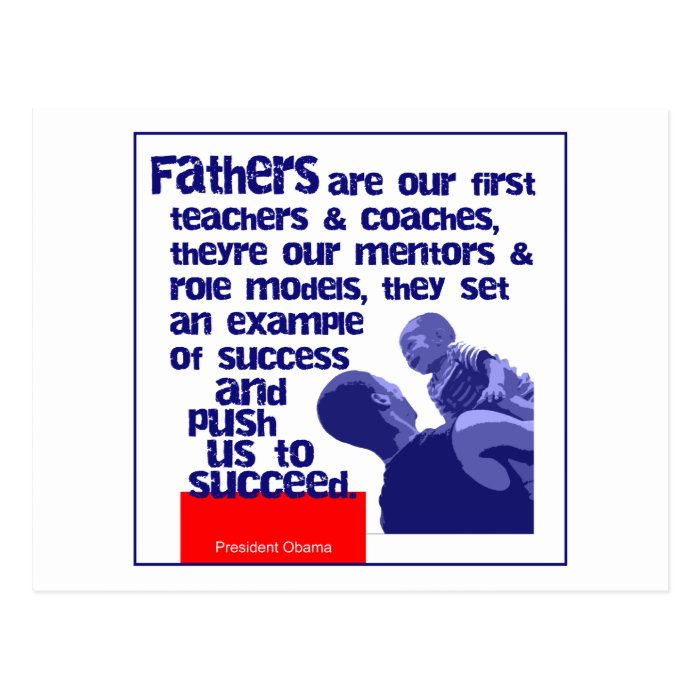 Fathers Are Postcard
