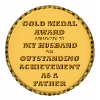 Fathers' award cutout