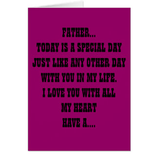 FATHERS BIRTHDAY CARD