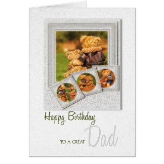 Father's Birthday Sentimental Teddy Bear Theme Card