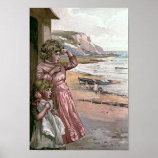 """Father's Boat"" Vintage Book Illustration Poster"