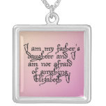 Father's Daughter Square Pendant Necklace