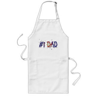 Father's Day #1 Dad Barbecue Apron Aprons