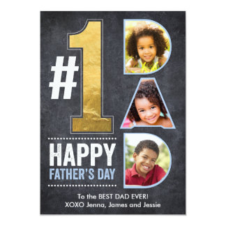 Father's Day #1 Dad Gold Card