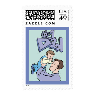 Father's Day #1 Dad Stamp