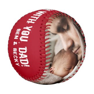 Father's Day 2 Custom Photos Home Run Dad Baseball