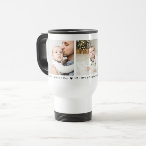 Father's Day 3 Photo Personalized Travel Mug