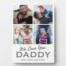 Father's Day 4 Photo Collage Plaque