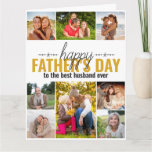 Fathers Day 8 Photo Collage Personalized Card