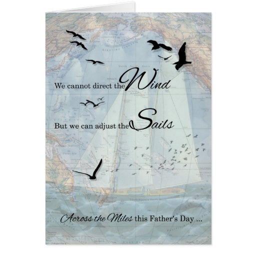 Father's Day Across the Miles | Nautical Theme Greeting Card