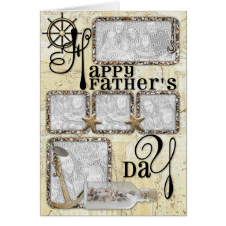 Fathers Day - ADD YOUR PHOTO - Captains Wheel Card