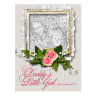 Fathers Day ADD YOUR PHOTO Daddys Little Girl Postcard