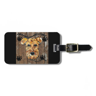 FATHERS DAY AIREDALE BAG TAG