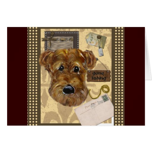 FATHER'S DAY AIREDALE GREETING CARDS