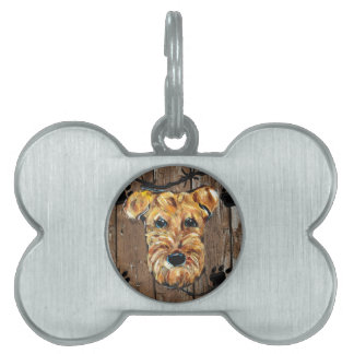 FATHERS DAY AIREDALE PET TAG