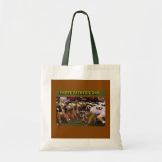 Father's Day American Football Tote Bag