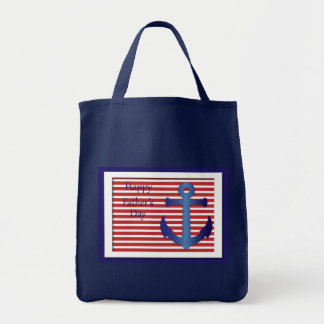 Father's Day Anchor Nautical Tote Bag