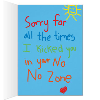 Father's Day: Apology Card
