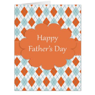 Father's Day Argyle Pattern Greeting Card