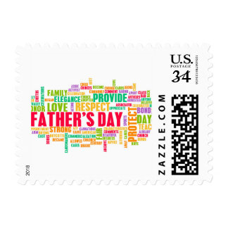 Father's Day As a Special Day with Words Postage