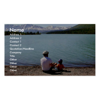 Father's Day at Kenai National Wildlife Refuge Double-Sided Standard Business Cards (Pack Of 100)