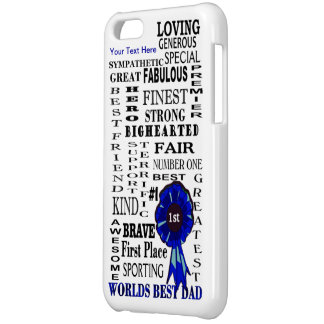 Fathers Day Awesome Word Collage Design iPhone 5C Cover