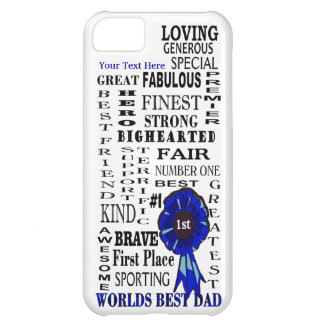 Fathers Day Awesome Word Collage iPhone 5C Cover