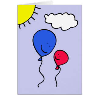Father's Day Balloon Greeting Greeting Card