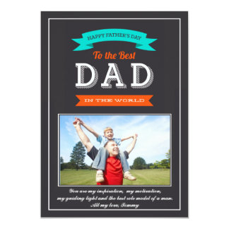 Father's Day Banner Photo Card