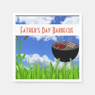 Father's Day Barbecue Paper Napkin