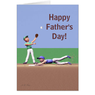 Fathers Day Baseball Characters Card