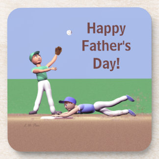 Fathers Day Baseball Characters Coaster