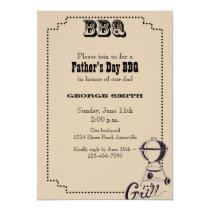 Father's Day BBQ Party Invitation