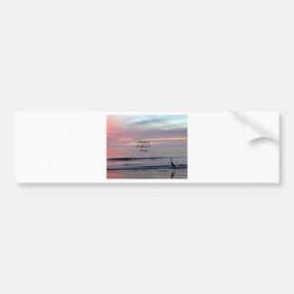 Father's Day Beach Heron Bumper Sticker