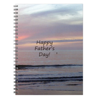 Father's Day Beach Heron Notebook